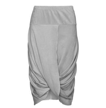 plus size boheme Faux leather wrap skirt
