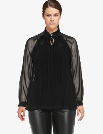carmakoma Victorian pleated chiffon blouse