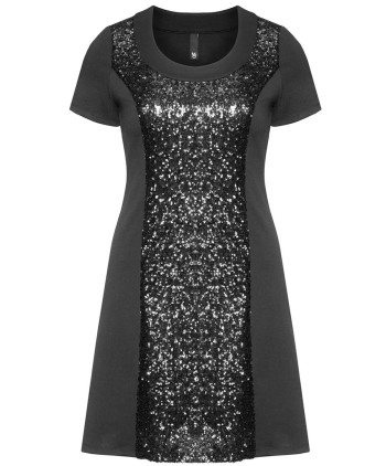 navabi sale manon baptiste Flared sequinned dress