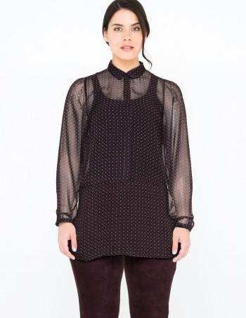 navabi sale zizzi printed chiffon shirt