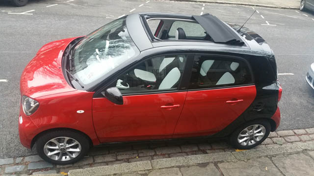 smart forfour sunroof