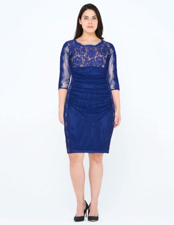 tia dresses Lace mesh dress