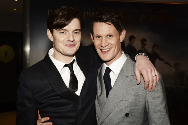 "LONDON, ENGLAND - FEBRUARY 01:  Matt Smith (R) and Sam Riley attend the red carpet for the European premiere for ""Pride And Prejudice And Zombies"" on at Vue West End on February 1, 2016 in London, England.  (Photo by Dave J Hogan/Dave J Hogan/Getty Images) *** Local Caption *** Matt Smith; Sam Riley"