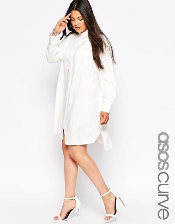 ASOS CURVE Shirt Dress with Pocket