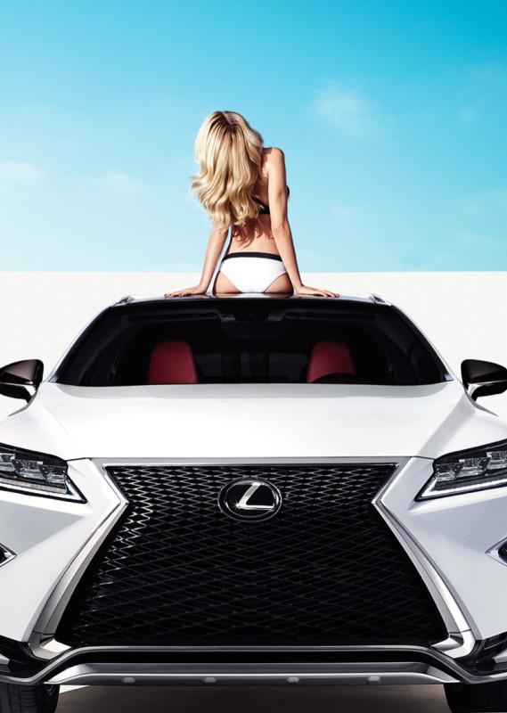 Hailey Clauson Lexus ad campaign 3