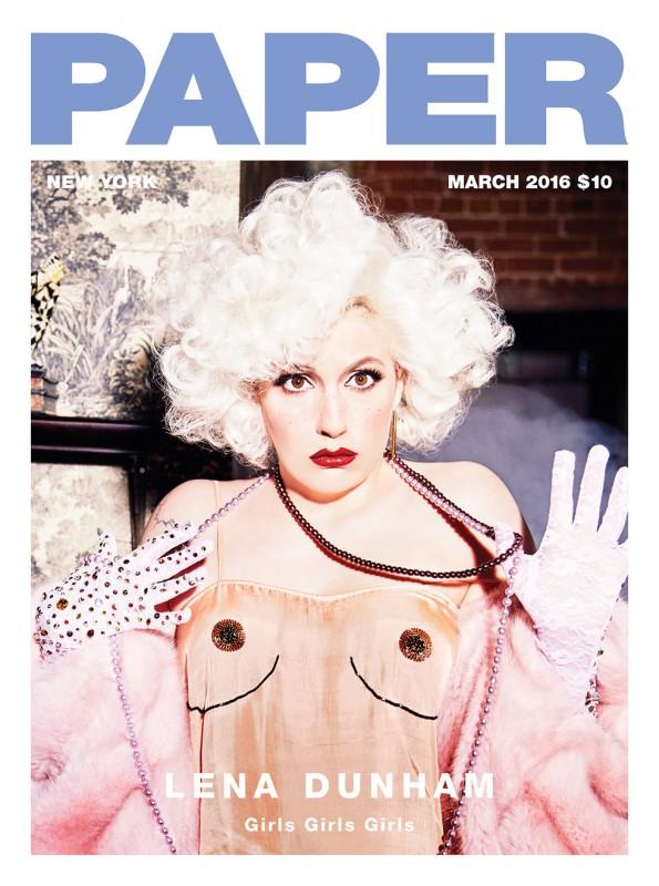 Lena Dunham paper magazine cover