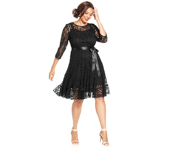 Macys UK MSK Plus Illusion Floral Lace Dress