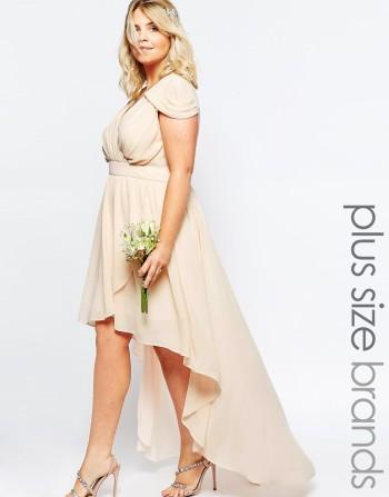 TFNC Plus WEDDING High Low Chiffon Dress