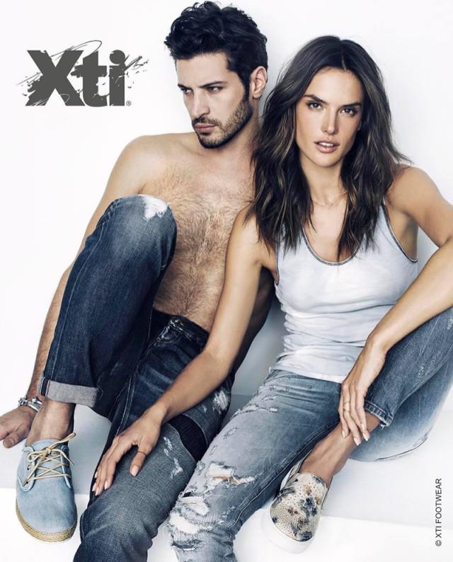 XTI shoes UK Alessandra Ambrosio SS16 ads