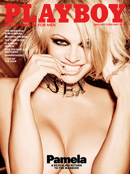 the most famous Playmate in Playboy history on the cover: Pamela Anderson.