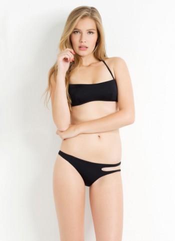 Agata bikini top in black