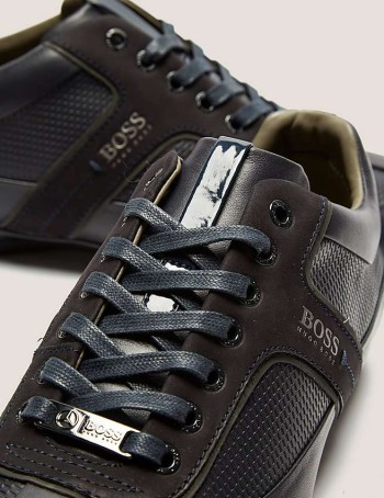 BOSS MERCOS LEATHER TRAINERS