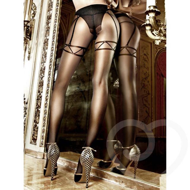 Baci Lingerie Sheer Mock Suspender Tights