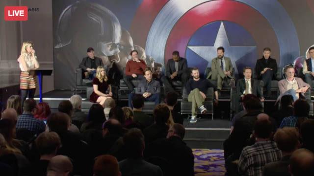 Captain America: Civil War at the European Press Conference