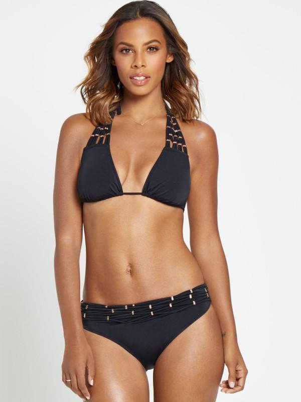 Rochelle Humes Macramé Embellished Bikini Set