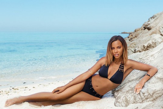 Rochelle Humes swimwear campaign for very