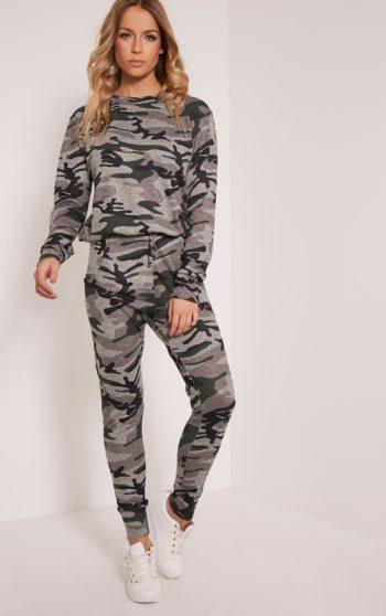Grechin Green Camouflage Tracksuit Sweatshirt