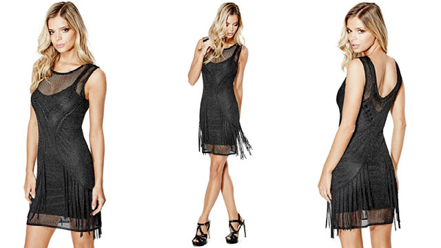 Guess dress with fringes