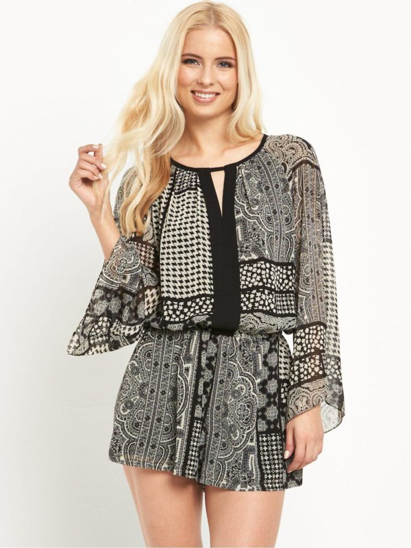 Juicy Couture Winds Patchwork Romper