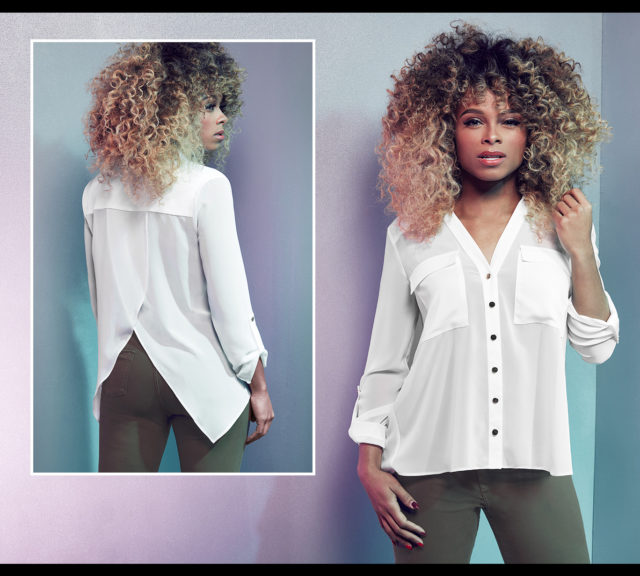Fleur East By Lipsy Military Pocket Shirt