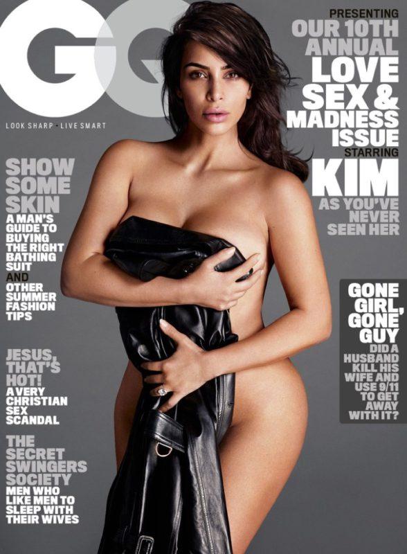 Kim Kardashian nude on GQ