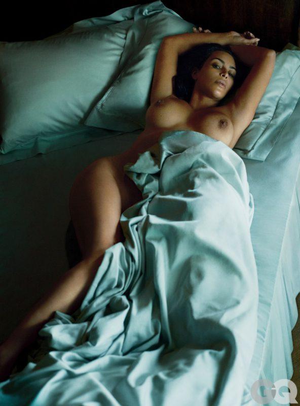 Kim Kardashian goes topless for GQ 2016