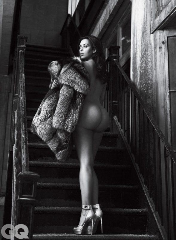 Kim Kardashian bottomless for GQ 2016