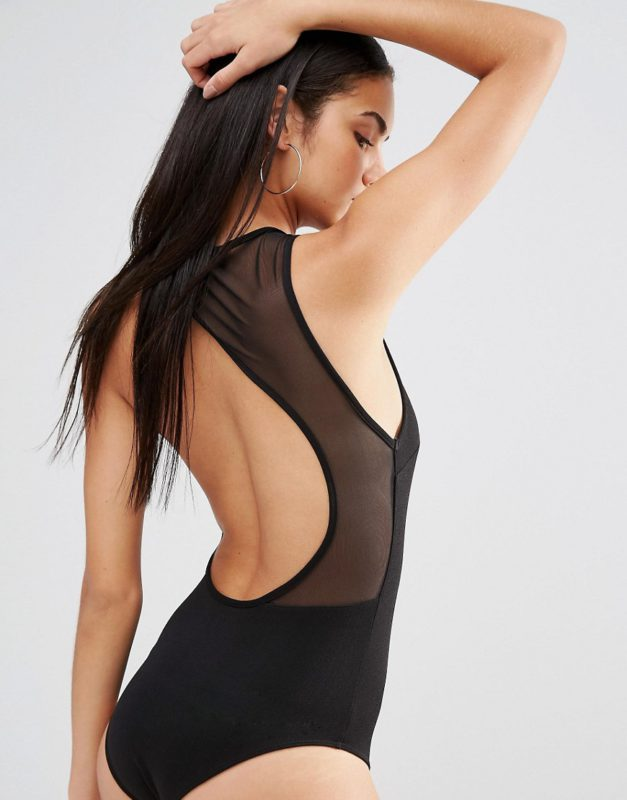 Missguided Cut Out Mesh Back Body