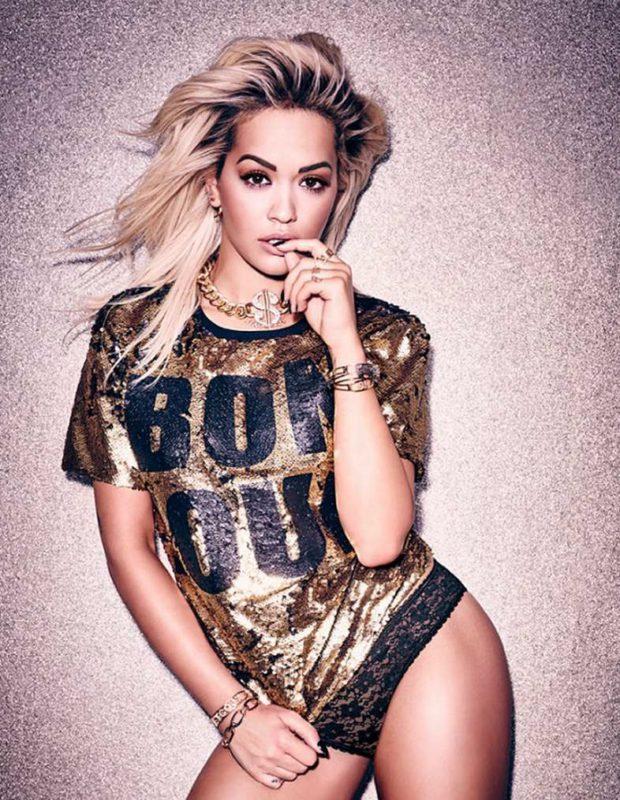 Rita Ora strips down to lingerie for Tezenis