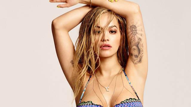 Rita ora strips to bikini