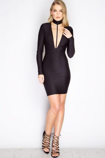 Ariel winter instagram - Spencer Black Choker V Front Dress