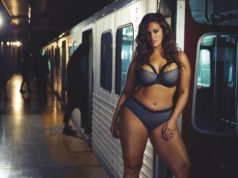 ashley graham rides subway in lingerie