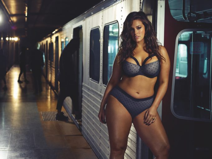 a5c542d656 Ashley Graham rides the subway in lingerie for her sexy new campaign