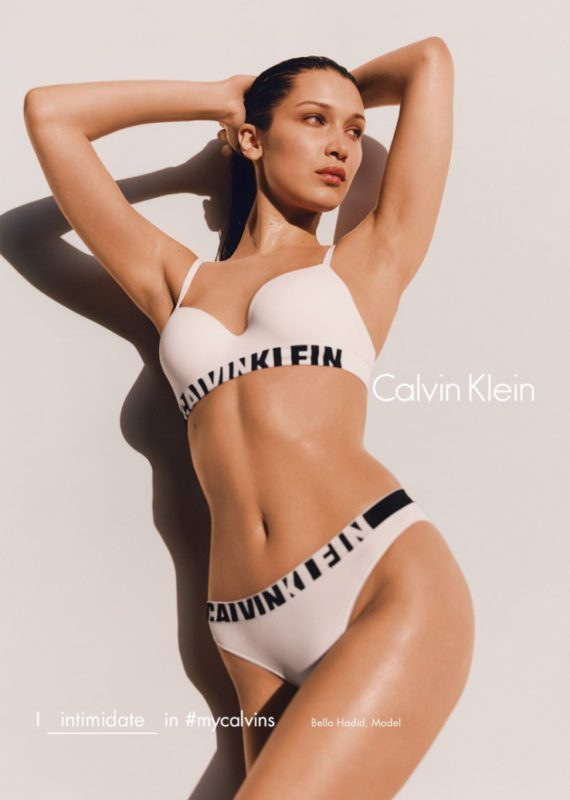 Bella Hadid 2016 Calvin Klein Campaign fall Winter