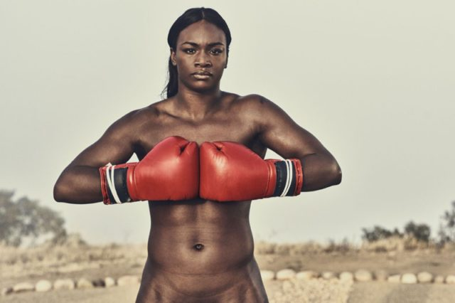 Claressa Shields poses in ESPN's 2016 Body Issue