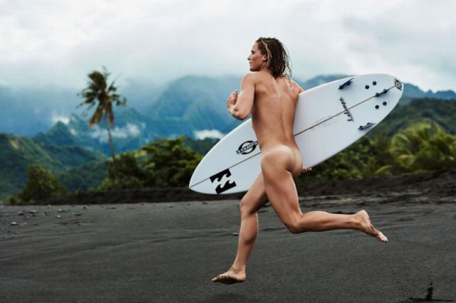 Courtney Conlogue poses in ESPN's 2016 Body Issue