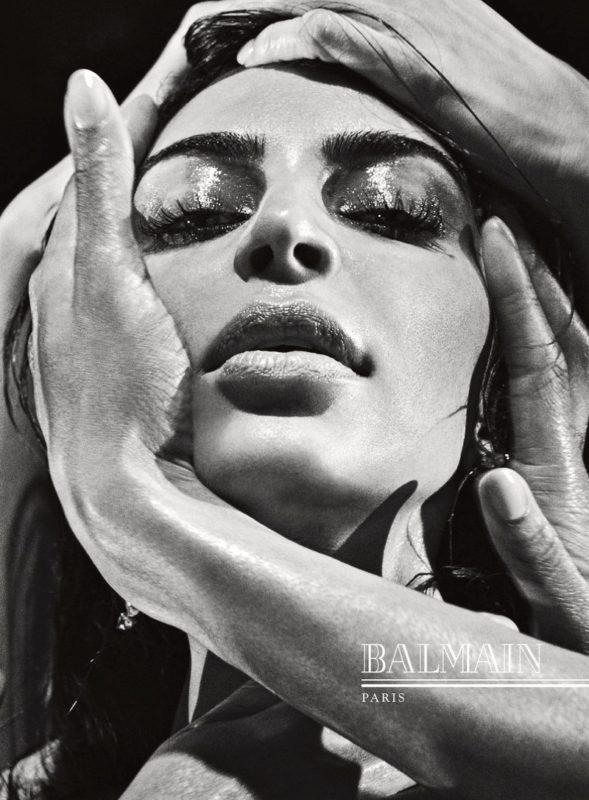 Kim Kardashian gets her closeup in Balmain's fall-winter 2016 campaign