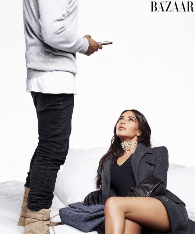 Kim Kardashian wears Chanel coat, necklace and gloves