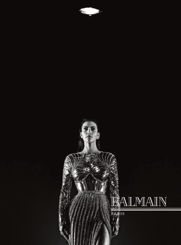 Kim Kardashian wears body conscious dress in Balmain's fall 2016 campaign
