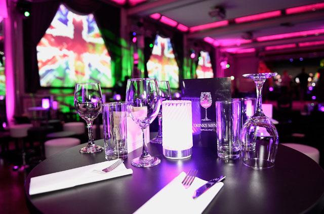 The London Cabaret Club dinner menu