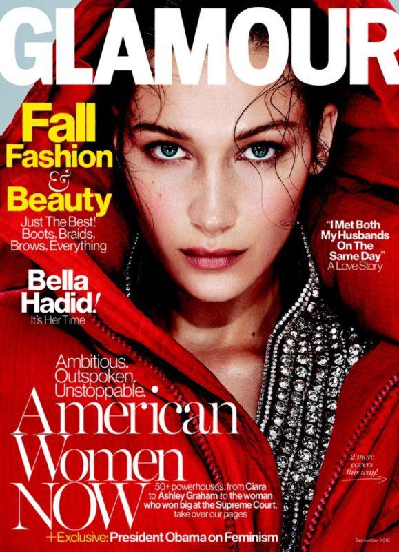 Bella Hadid Glamour Magazine cover