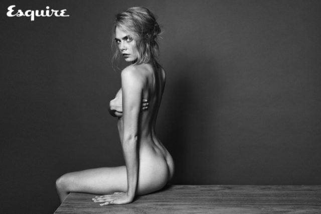 Cara Delevingne poses nude in the photo session