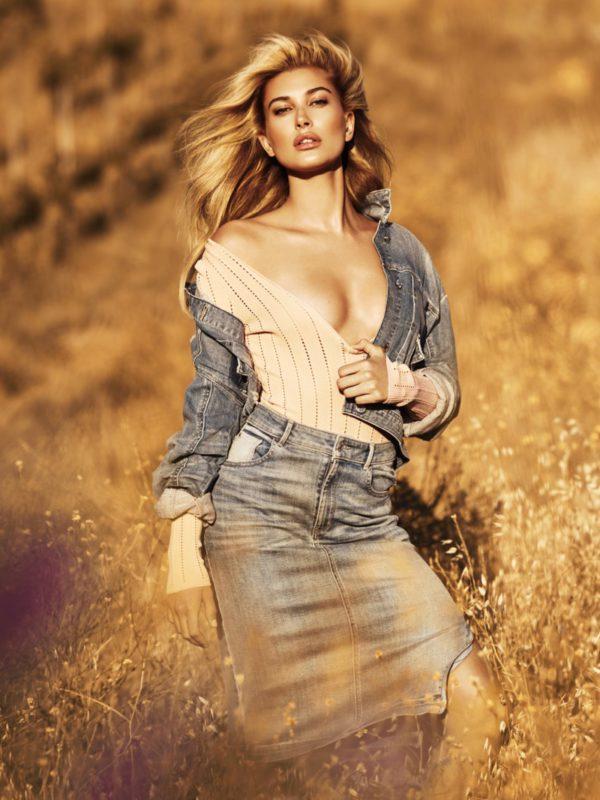 Hailey Baldwin embraces denim for Guess Jeans' fall-winter 2016 campaign