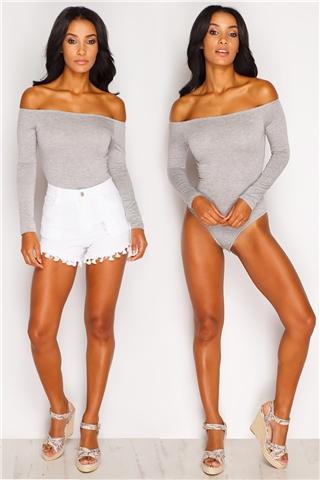 Katie Grey Bardot Bodysuit