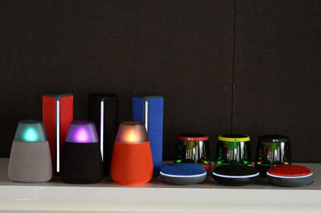 LG Bluetooth speaker range