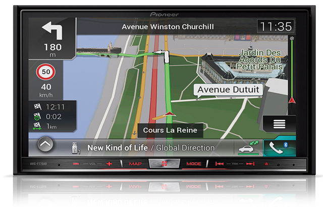Pioneer, AVIC-F77DAB headunit in SatNav mode