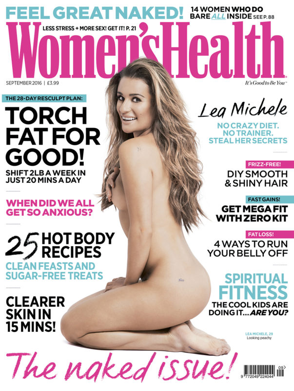 Lea michelle naked for women's health cover