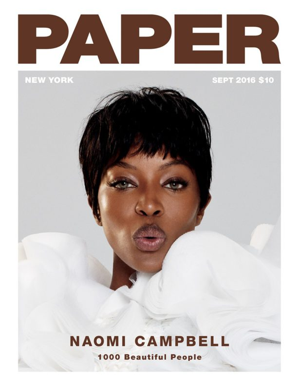 naomi campbell paper magazine