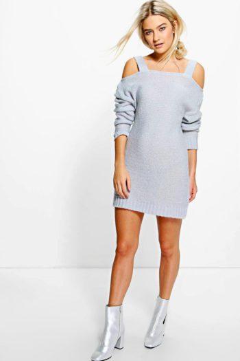 Annabelle Strap Open Shoulder Soft Knit Dress