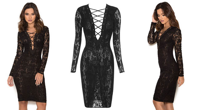 House of CB Halloween Anchali Lace Dres